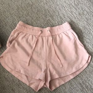 Pink super soft shorts form H and M